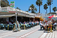 Pavement cafes, Benalmadena. Royalty Free Stock Photos