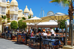 Pavement cafes, Benalmadena. Stock Photos