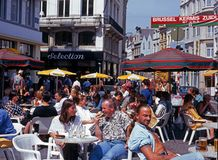 Pavement cafes, Brussels. Stock Photos