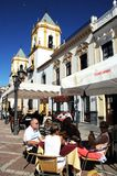 Pavement cafes, Ronda, Spain. Royalty Free Stock Image