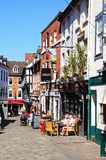 Pavement cafes, Shrewsbury. Stock Image