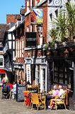 Pavement Cafes, Shrewsbury. Royalty Free Stock Image
