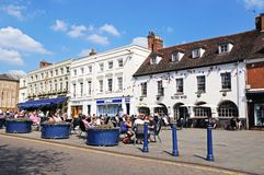 Pavement cafes, Warwick. Royalty Free Stock Photography