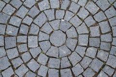 Pavement Circle Pattern Closeup Royalty Free Stock Image