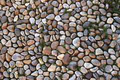 Pavement with cobblestones Royalty Free Stock Images