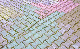 Pavement colored by kids Stock Image