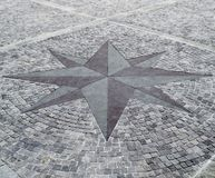 Pavement compass rose Stock Photography