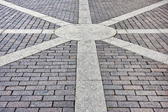 Pavement of concrete pavement tiles patterned Stock Images