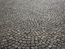 Pavement of concrete pavement tiles patterned Royalty Free Stock Images