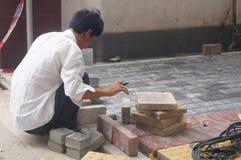 Pavement construction Stock Images