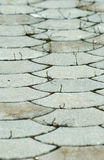 Pavement with curved elements Royalty Free Stock Photography