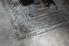 Pavement detail at Pompeii, Italy Royalty Free Stock Images