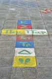 Pavement drawing. Greek drawing on school's sidewalk Royalty Free Stock Image