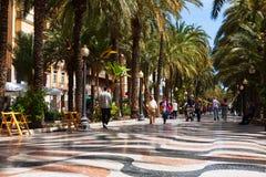 Pavement embankment in Alicante Stock Image