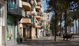 Pavement embankment in  Badalona Stock Images