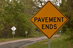 Pavement Ends Royalty Free Stock Photography