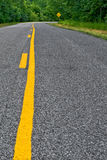 Pavement Ends Stock Photo