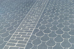 Pavement with fish scale and diagonally pattern Stock Photo
