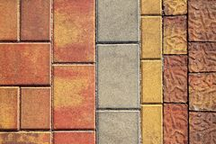 Pavement flooring outdoor texture colorful Stock Photography