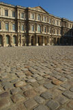Pavement in front of Louvre museum Stock Image