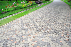 The pavement in a garden Royalty Free Stock Photography