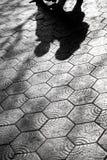 Pavement with Gaudi design in Paseo de Gracia Avenue in Barcelon Stock Photo