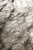 Pavement with Gaudi design in Paseo de Gracia Avenue in Barcelon Royalty Free Stock Photos