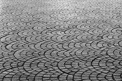 Pavement  geometric pattern Royalty Free Stock Photos