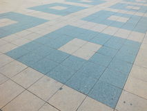 Pavement with geometric pattern Stock Photo