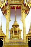 Pavement gold    temple   in     incision of the temple Royalty Free Stock Image