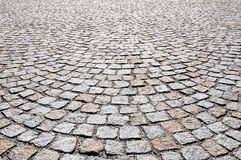 Pavement of granite Stock Photography