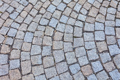 Pavement of granite in Budapest Royalty Free Stock Photo