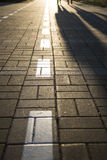 Pavement of Granite in the city Royalty Free Stock Photos