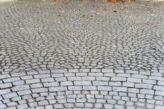 Pavement of granite with fish scale pattern Royalty Free Stock Photography