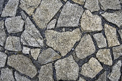 The pavement of granite stone Stock Images