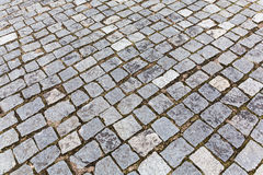 Pavement of granite stones Stock Photo