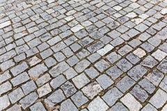Pavement of granite stones Stock Photo