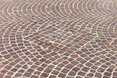 Pavement & hatch sewer manhole Royalty Free Stock Images