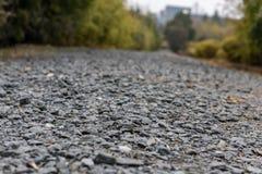 Crushed stone pavement-subgrade royalty free stock photography