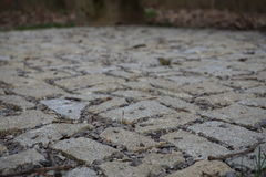 Pavement made of stones, cobbles and gravel Royalty Free Stock Photography