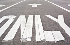 Pavement markings Stock Photography