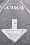 Pavement markings Royalty Free Stock Photos