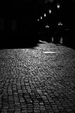 Pavement in moonlight Royalty Free Stock Images