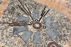 Pavement mosaic Barcelona. Pavement mosaic in Barcelona, Spain Stock Photography