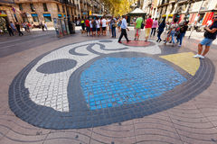 Pavement mosaic by Joan Miro Royalty Free Stock Image