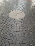 Pavement. Of neatly arranged little blocks in circular pattern Royalty Free Stock Images
