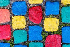 Pavement - Painted Cobblestones Royalty Free Stock Photography