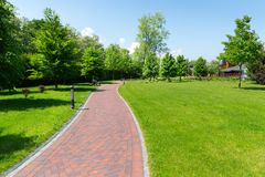 Pavement in the park Royalty Free Stock Photos