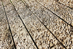 Pavement in perspective, small depth of field Stock Photography