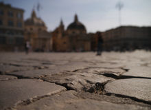 The pavement of Piazza Del popolo Royalty Free Stock Photo